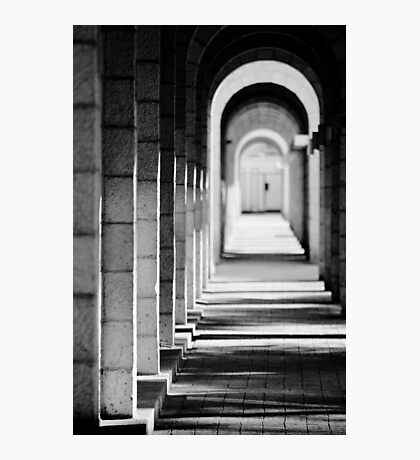 light and shadows in tunnel Photographic Print