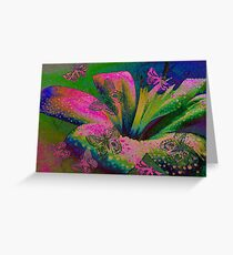 Butterflies & Lily. Greeting Card