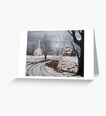 Stone Bridge Crossing Greeting Card