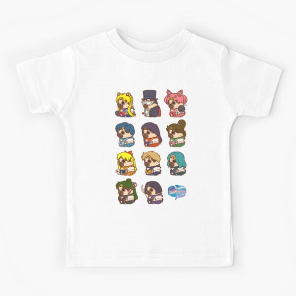 Pretty Soldier Sailor Puglie Kids T-Shirt