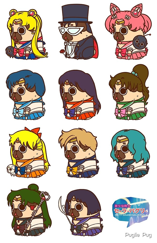 """Pretty Soldier Sailor Puglie"" by Puglie Pug 