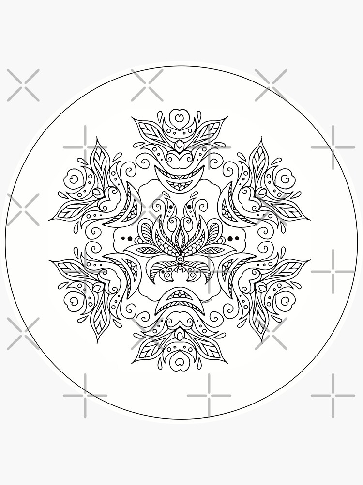 Just add Colour! Floral Mandala by FunkiFish
