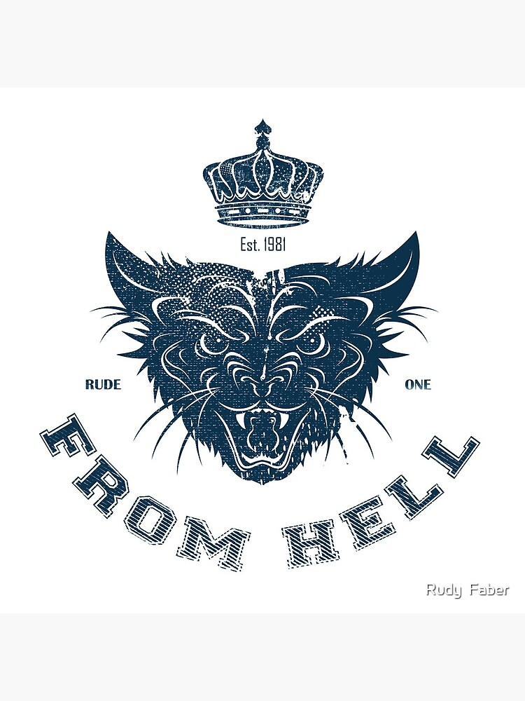 Pussy From Hell - stencil - Navy by rudyfaber