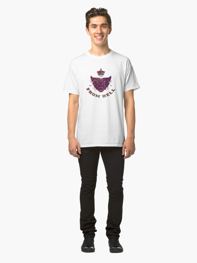 Alternate view of Pussy From Hell - stencil - offset Purplee Classic T-Shirt