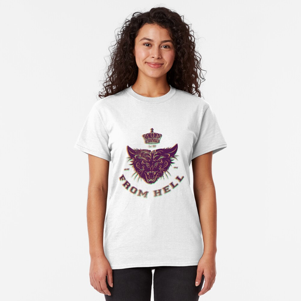 Pussy From Hell - stencil - offset Purplee Classic T-Shirt
