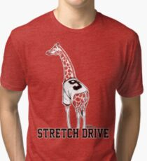 Stretch Drive Belt Giraffe Tri-blend T-Shirt