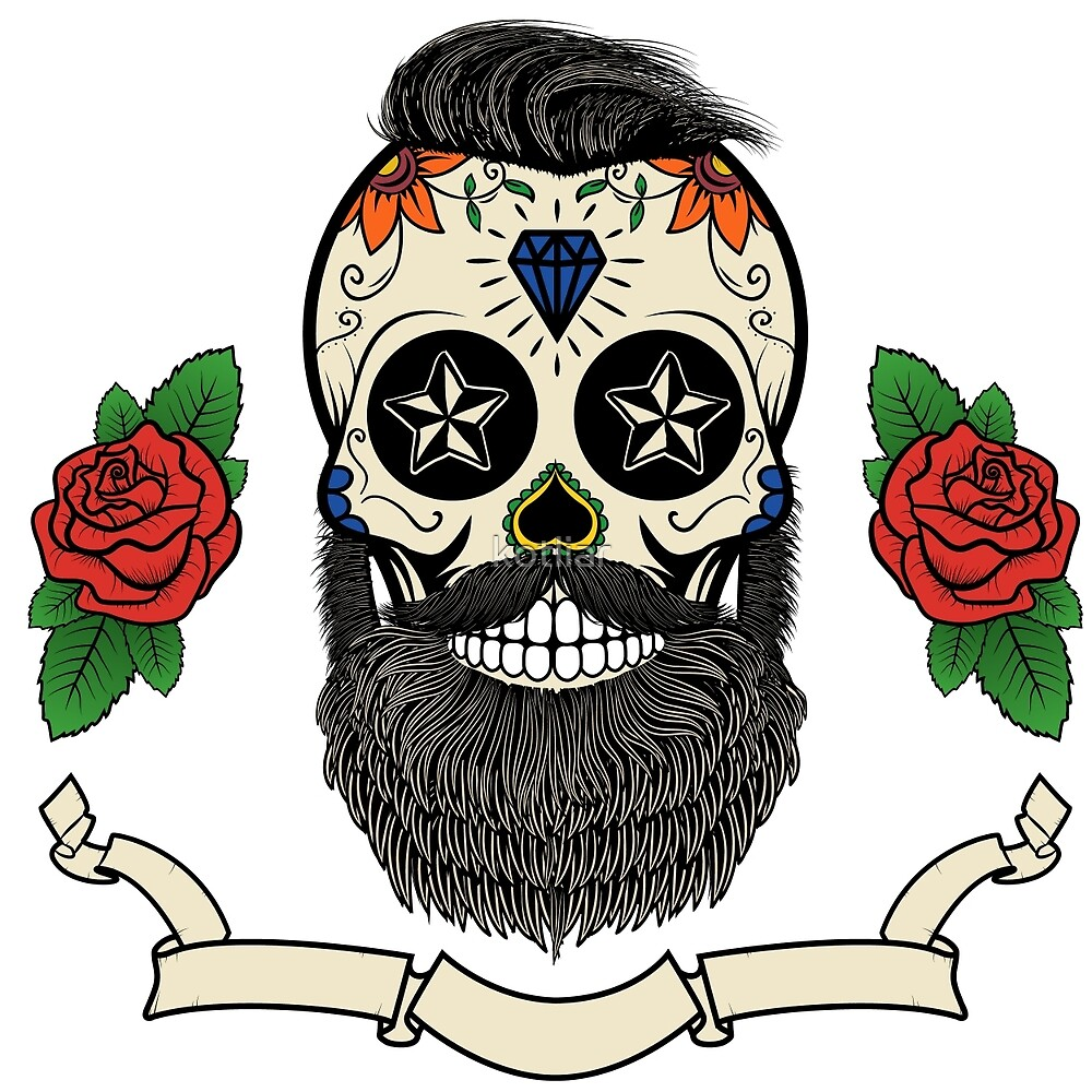 bearded skull by kotliar