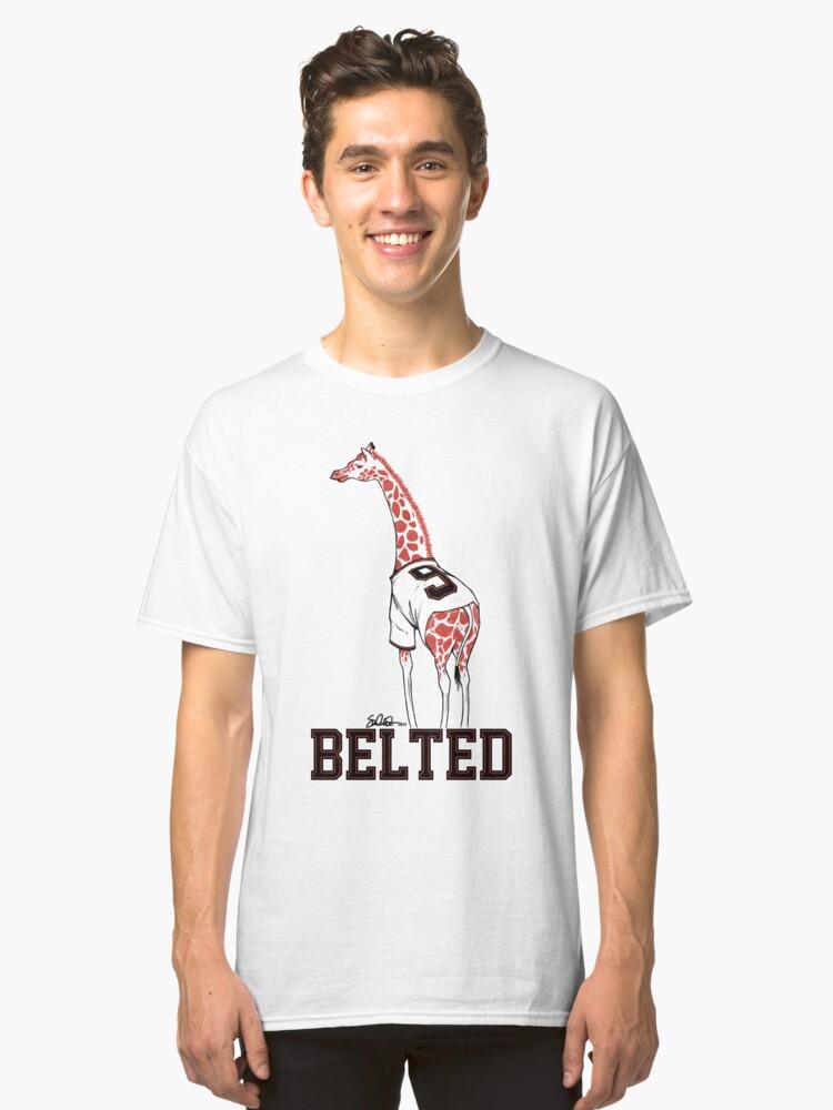 Belted Belt Giraffe Classic T-Shirt Front