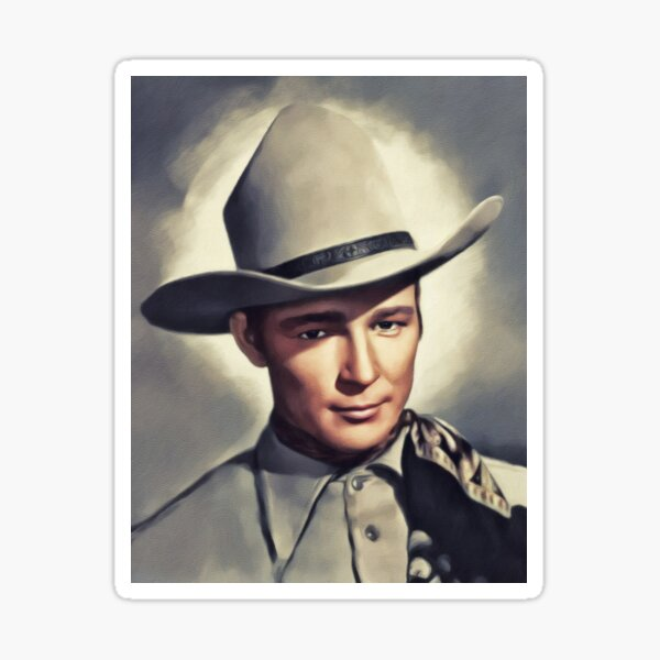 Roy Rogers, Vintage Actor Sticker
