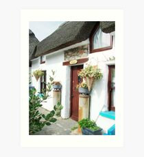 A Old world thatched Cottage  Art Print
