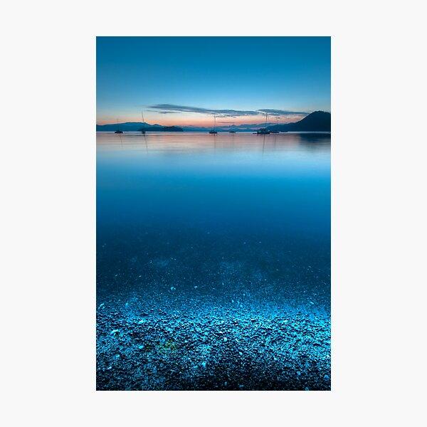 Night Shore at Montegue Harbour Photographic Print