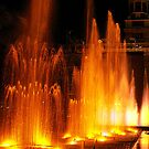 Coloured Fountains in Hong Kong by Bev Pascoe