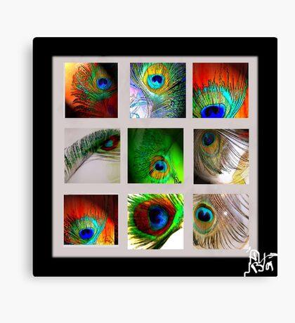 Peacock Blanket Canvas Print