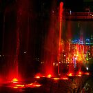 Red Dancing Waters by Hong Kong Harbour by Bev Pascoe