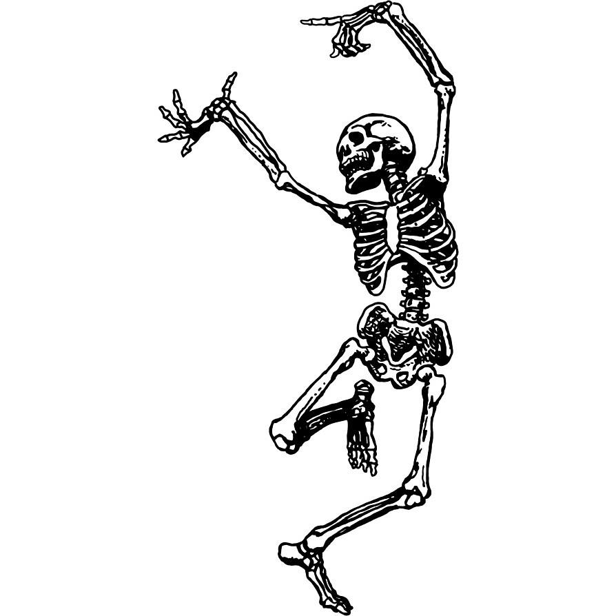 Dancing skeleton  by Randomthings