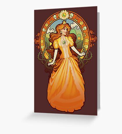 Daisy Nouveau Greeting Card