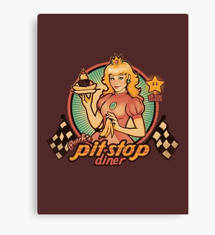 Peach's Pit Stop Diner Canvas Print