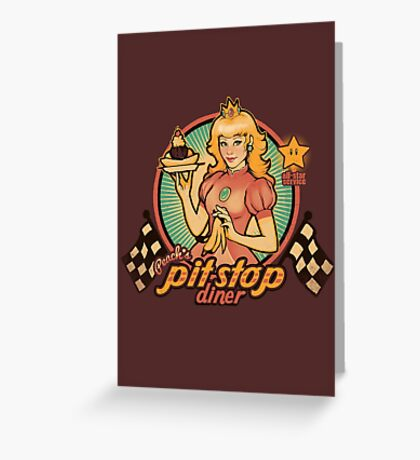 Peach's Pit Stop Diner Greeting Card