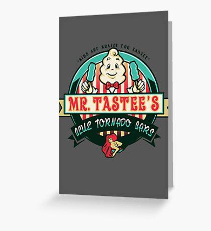 Mr. Tastee's Blue Tornado Bars Greeting Card