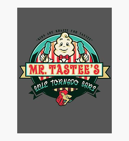 Mr. Tastee's Blue Tornado Bars Photographic Print