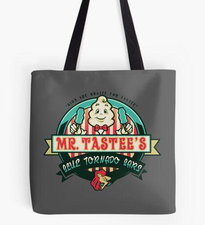 Mr. Tastee's Blue Tornado Bars Tote Bag