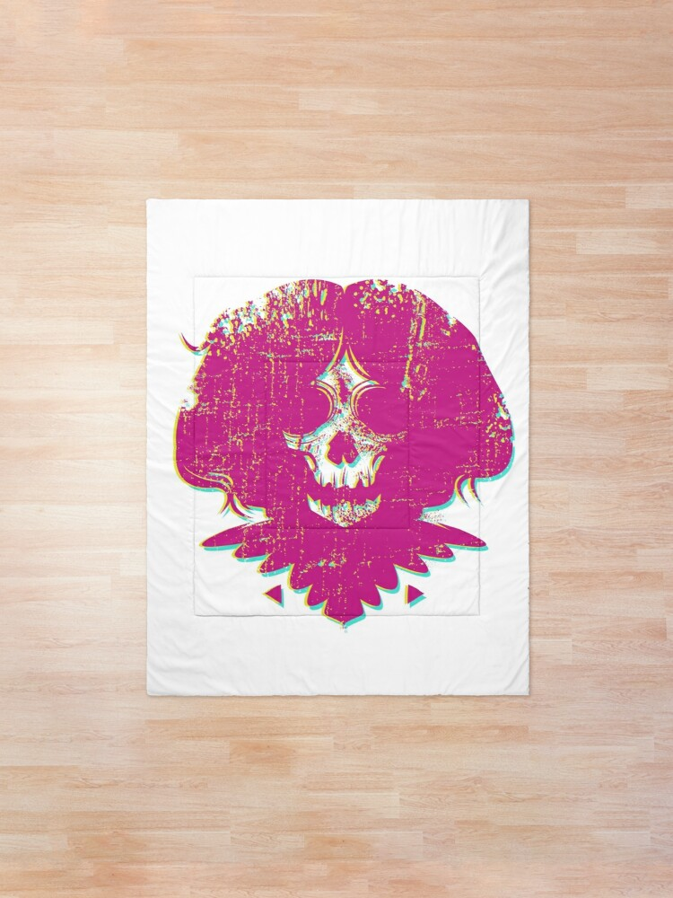 Alternate view of Ghost Face - Pink Comforter