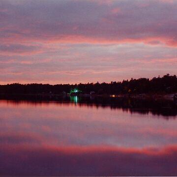 Bass Lake at Dusk by bobmeyers