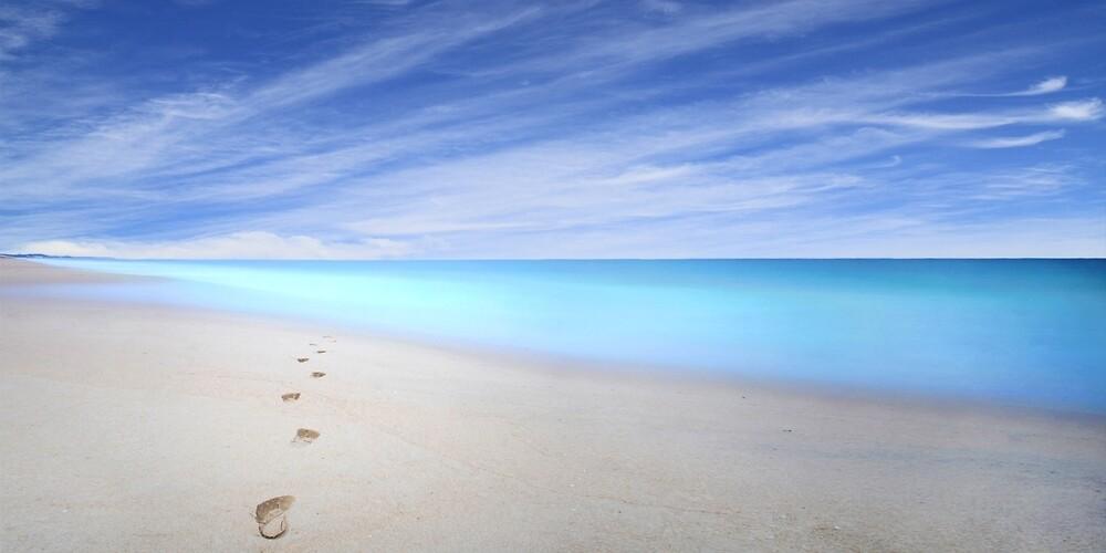 Footprints into a dream, Myalup beach, Western Australia by Marc Russo