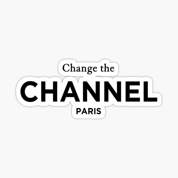 Cambiar el canal de París. Camiseta de moda clásica Pegatina