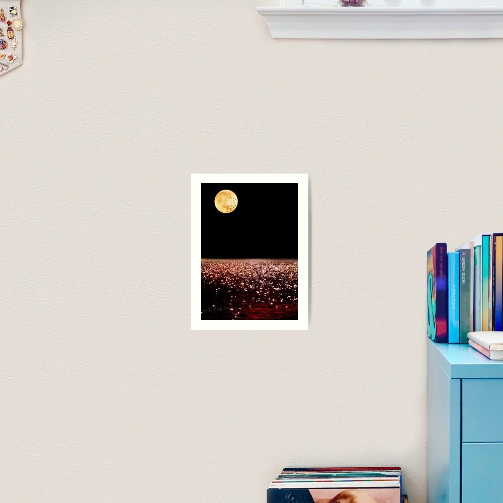 Sea Moon Art Print