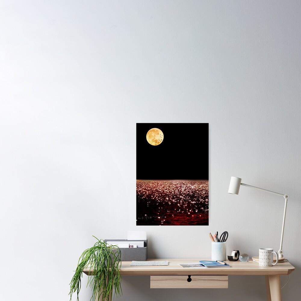 Sea Moon Poster