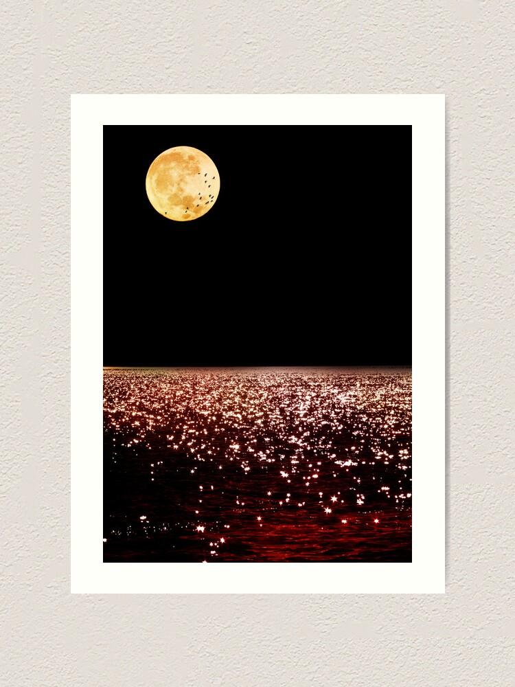 Alternate view of Sea Moon Art Print