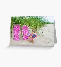 Polka Dot Bikini Greeting Card