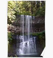 Summer at Lower South Falls Poster