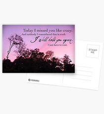 I Will Hold You Again Postcards