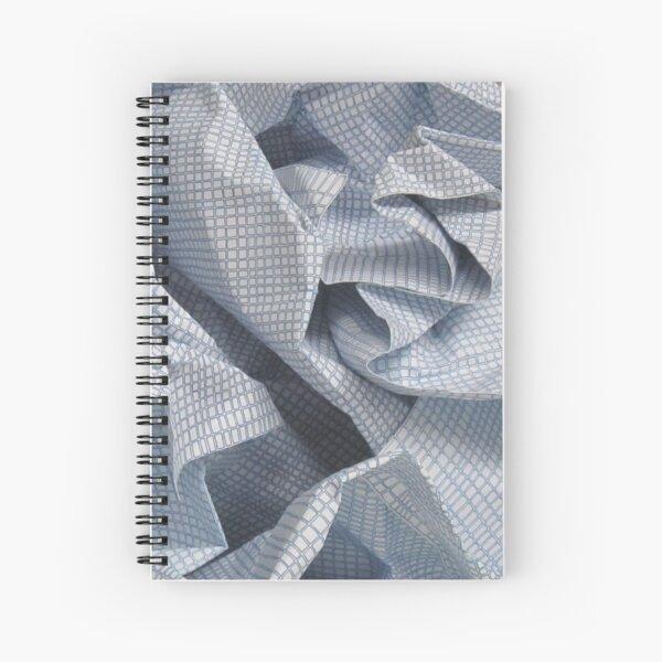 Crumple sculpture - detail Spiral Notebook
