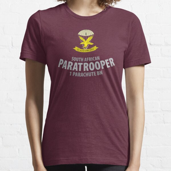 South African Paratrooper Shirt (1 Parachute Bn) SADF Essential T-Shirt
