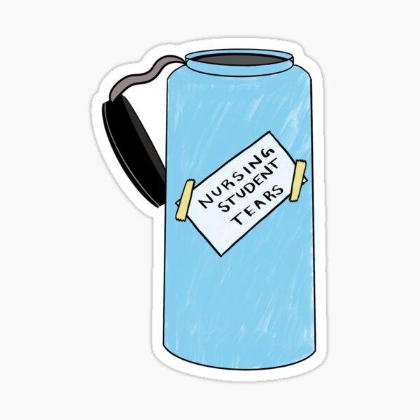 Nursing Student Tears Water Bottle Sticker Sticker