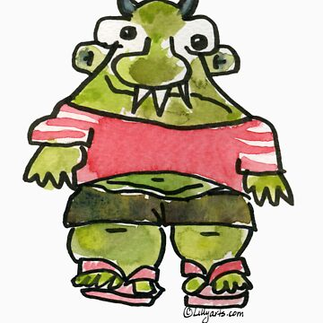 Funny Cartoon Monstar Monster 001 by Lillyarts