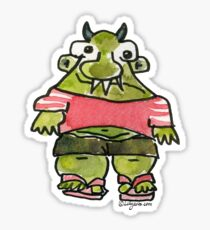 Funny Cartoon Monstar Monster 001 Sticker