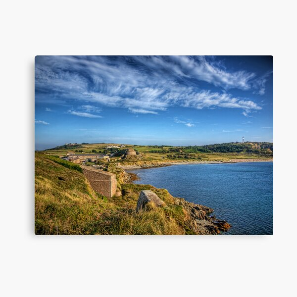 Braye and the Arsenal from Roselle - Alderrney Canvas Print
