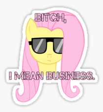 FlutterShy means business. Sticker