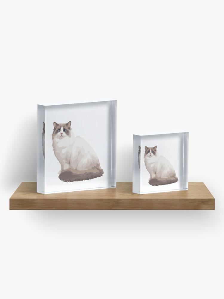 Alternate view of Ragdoll kitty Blue bicolor Acrylic Block