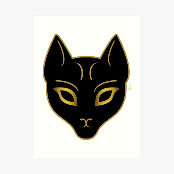 Golden Cat Art Print