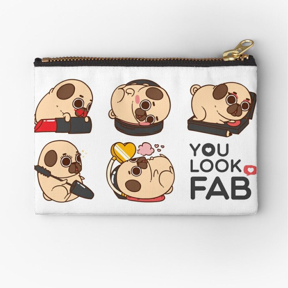 You Look Fab! -Puglie Zipper Pouch