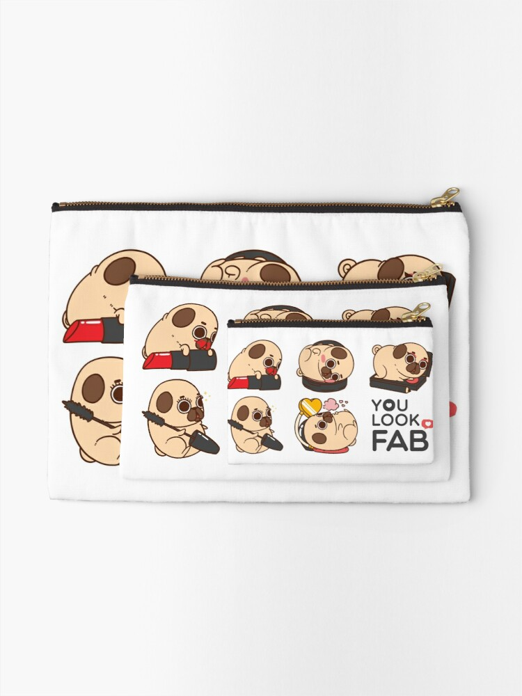 Alternate view of You Look Fab! -Puglie Zipper Pouch