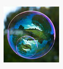 Twin Bubble Landscapes Photographic Print