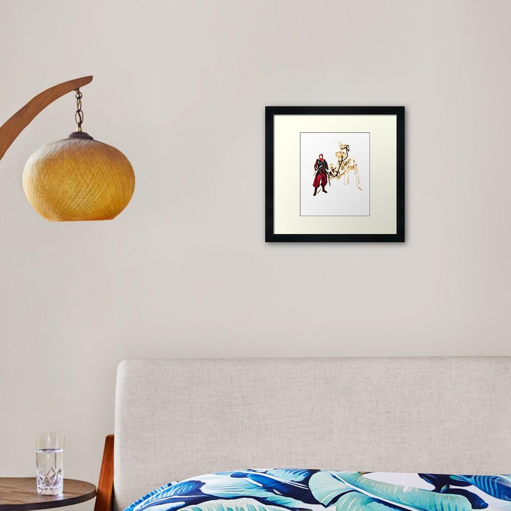 the dromedary Framed Art Print