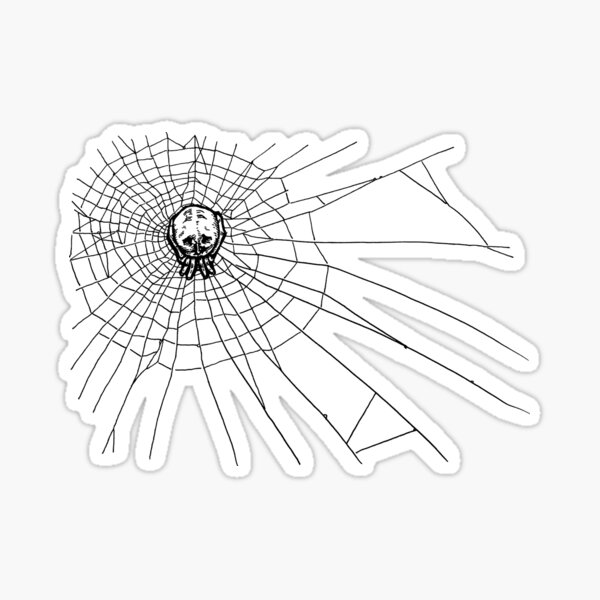 Skull Spider and Its Web by oekart Sticker