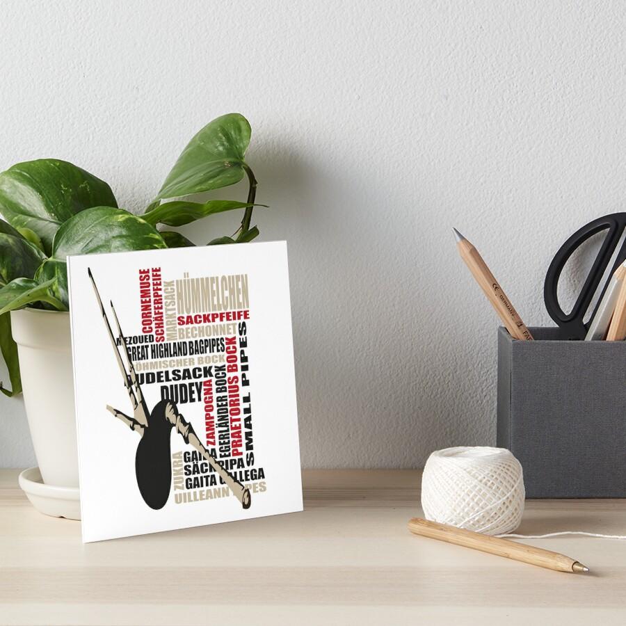 Sackpfeifen Textwolke Art Board Print